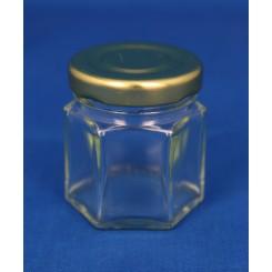 Konservesglas 6-kantet klar 45 ml.