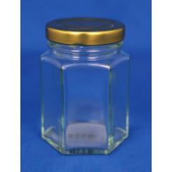 Konservesglas 6-kantet klar 110 ml.