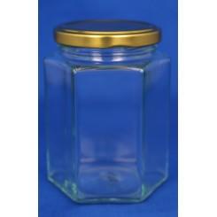 Konservesglas 6-kantet klar 195 ml.