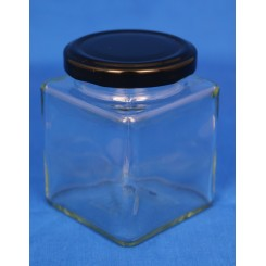 Konservesglas 4-kantet klar 212 ml.