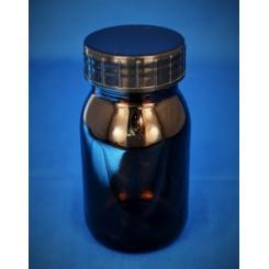Gevindglas brun 125 ml