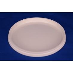 118 mm. Låg f. plastbøtte PP Hvid