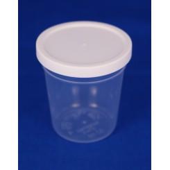 50 ml. Plastbøtte PP natur FS f. 44 mm. låg