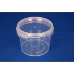120 ml. Plastbøtte PP natur FS f. 69 mm. låg