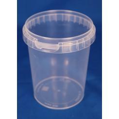 520 ml. Plastbøtte PP natur FS f. 95 mm. låg