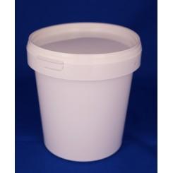 870 ml. Plastbøtte PP hvid RS f. 118 mm. låg