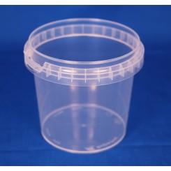 365 ml. Plastbøtte PP natur FS f. 92 mm. låg