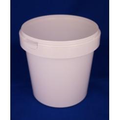 1180 ml. Plastbøtte PP Hvid FS f. 133mm. låg