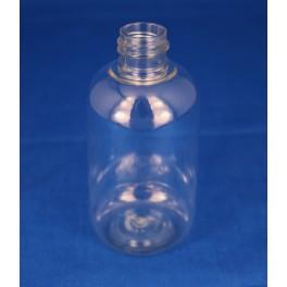 100 ml. Kosmetikflaske rund klar f. 20 mm.