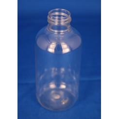 150 ml. kosmetikflaske rund klar f. 24 mm.