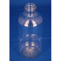 200 ml. kosmetikflaske rund klar f. 24 mm.