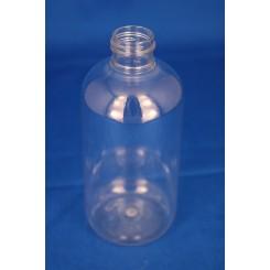 250 ml. kosmetikflaske rund klar f. 24 mm.