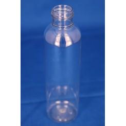 150 ml. kosmetikflaske rund høj klar f. 24 mm.