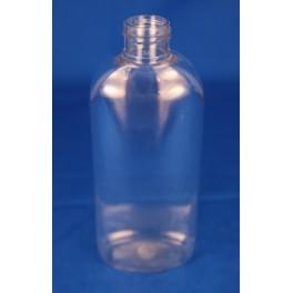 200 ml. kosmetikflaske oval klar f. 24 mm.