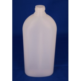 500 ml. kosmetikflaske oval frosted f. 24 mm.