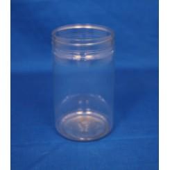 400 ml. Plastdåse rund lige PET klar f. 70 mm.