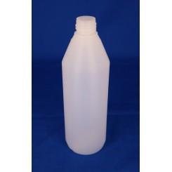 250 ml Plastflaske rund PE Natur f. 22 mm