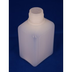 100 ml Plastflaske PE Natur Rect. f. 22 mm.