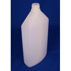 500 ml Plastflaske oval PE natur f. 22 mm