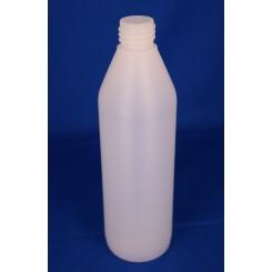 500 ml Plastflaske rund PE natur f. 28 mm/erstattes af 50028NA