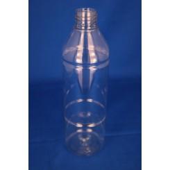500 ml Plastflaske rund PET klar f. 28 mm