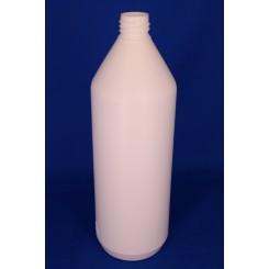 1000 ml Plastflaske rund PE hvid f. 28 mm