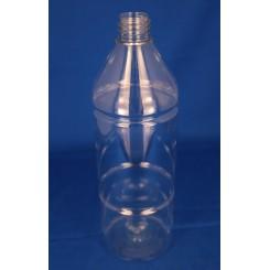 1000 ml Plastflaske rund PET klar f. 28 mm