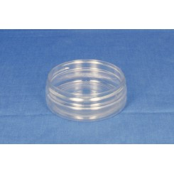 50 ml. Plastdåse rund lige PET klar f. 70 mm. S