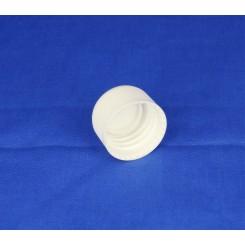 28 mm. Kapsel PP hvid m. konus