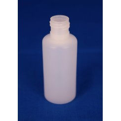25 ml Plastflaske rund PE Natur for 15 mm.
