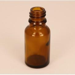 Dråbeflaske brun 15 ml