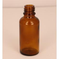 Dråbeflaske brun 30 ml.