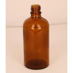 Dråbeflaske brun 100 ml.