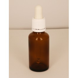 30 ml. Pipette m. forsegling hvid/hvid