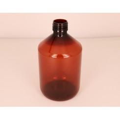 500 ml. Plastflaske PET klar f. 28 mm. Ropp