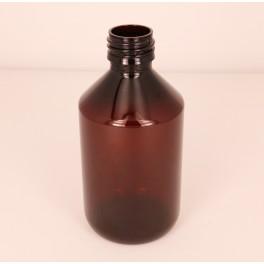 250 ml. Plastflaske PET brun f. 28 mm. Ropp