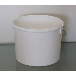 4,8 liter Spand PP Hvid f. 222 mm. PH