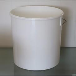 15,9 liter Spand PP Hvid f. 295 mm.