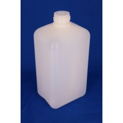 1000 ml Plastflaske rectangular PE natur f. 32 mm