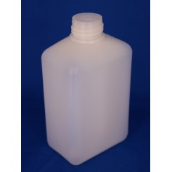 500 ml Plastflaske rectangular PE natur f. 32 mm