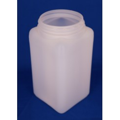 1000 ml. Firkantdåse natur f. 80 mm. låg