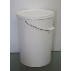 21,7 liter Spand PP Hvid f. 295 mm.
