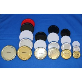 Metallåg f. Konservesglas 89 mm guld. Udgår