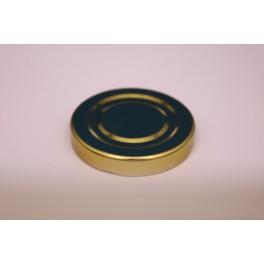 Metallåg f. Konservesglas 48 mm. guld