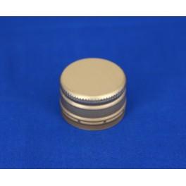 28 mm kapsel m. konus aluminium guld