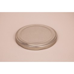 Metallåg f. Konservesglas 82 mm Sølv
