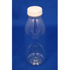 500 ml. Juiceflaske rund PET klar f. 38 mm.