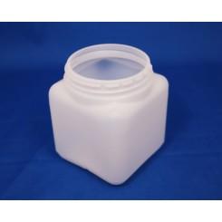 500 ml. Firkantdåse natur f. 80 mm. låg.