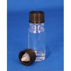 18 mm. Kapsel m. klar dråbeindsats sort.