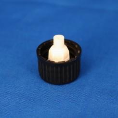 18 mm. Kapsel m. hvid dråbeindsats sort.